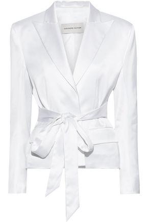 ALEXANDRE VAUTHIER Belted satin blazer