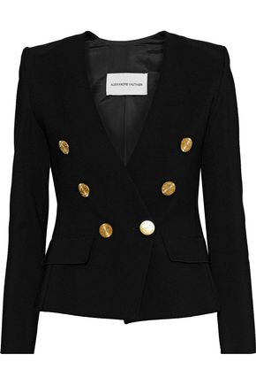ALEXANDRE VAUTHIER Button-embellished ponte blazer