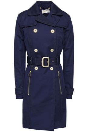 MICHAEL MICHAEL KORS Embroider-trimmed sateen trench coat