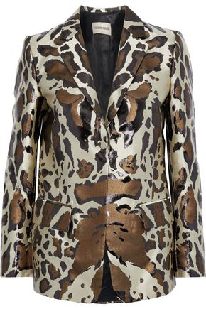 ROBERTO CAVALLI Metallic leopard-jacquard blazer