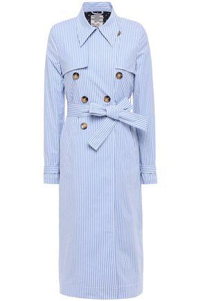 BAUM UND PFERDGARTEN Striped stretch-cotton poplin trench coat