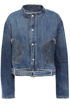 RE/DONE with LEVI'S Cropped faded denim jacket