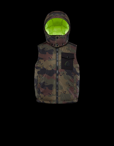 ESTOM Military green Category Waistcoats Man