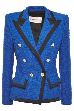 ALEXANDRE VAUTHIER Double-breasted cotton-blend tweed blazer