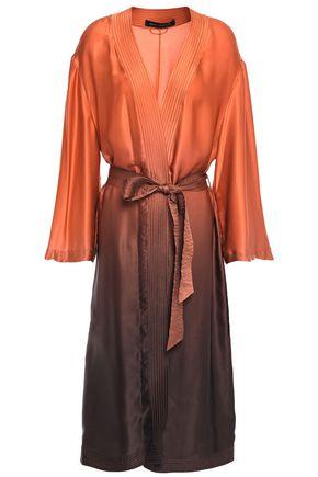 SALLY LAPOINTE Belted dégradé silk-satin robe