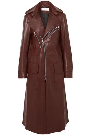 CHLOÉ Zip-detailed leather coat