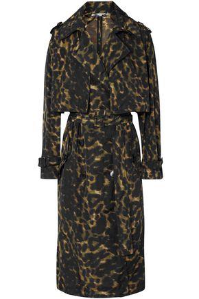 STELLA McCARTNEY معطف واقٍ من المطر من قماش مقاوم للماء مع نقوش الفهد