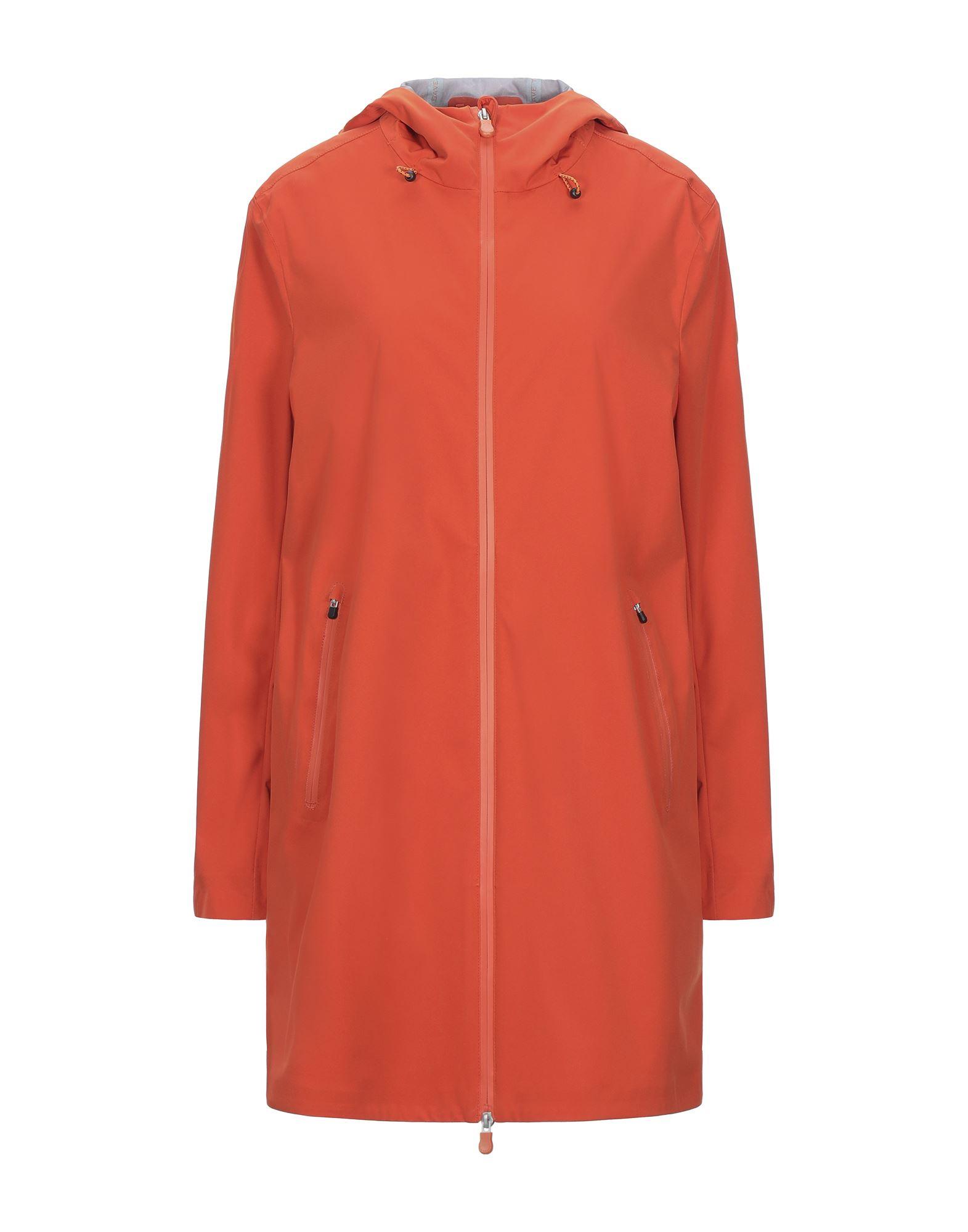 SAVE THE DUCK セイブ・ザ・ダック レディース ライトコート オレンジ - 赤茶色 - ダークブルー
