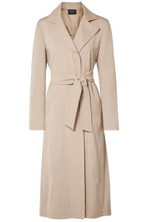 AKRIS Teri belted cotton and silk-blend gabardine trench coat