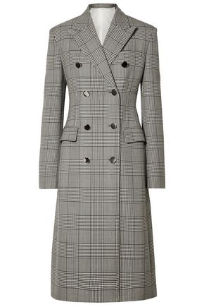 CALVIN KLEIN 205W39NYC Prince of Wales checked wool and silk-blend coat