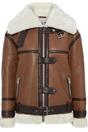 WALTER BAKER Kat belted shearling jacket
