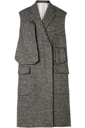 CALVIN KLEIN 205W39NYC Oversized houndstooth wool-blend vest
