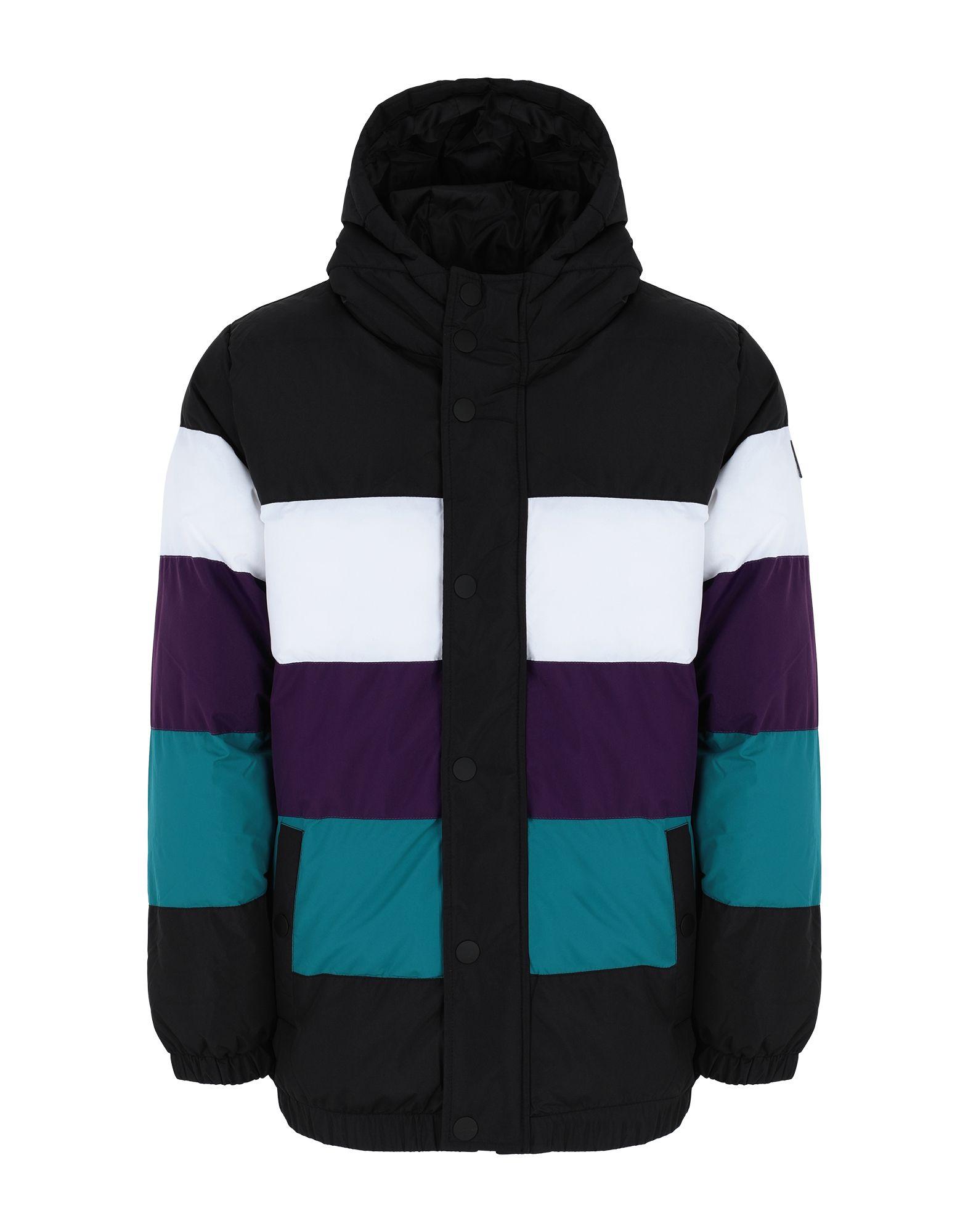 《セール開催中》FILA HERITAGE メンズ 合成繊維中綿アウター ブラック S ポリエステル 100% GIOVANNI vintage colour blocked puffa jacket