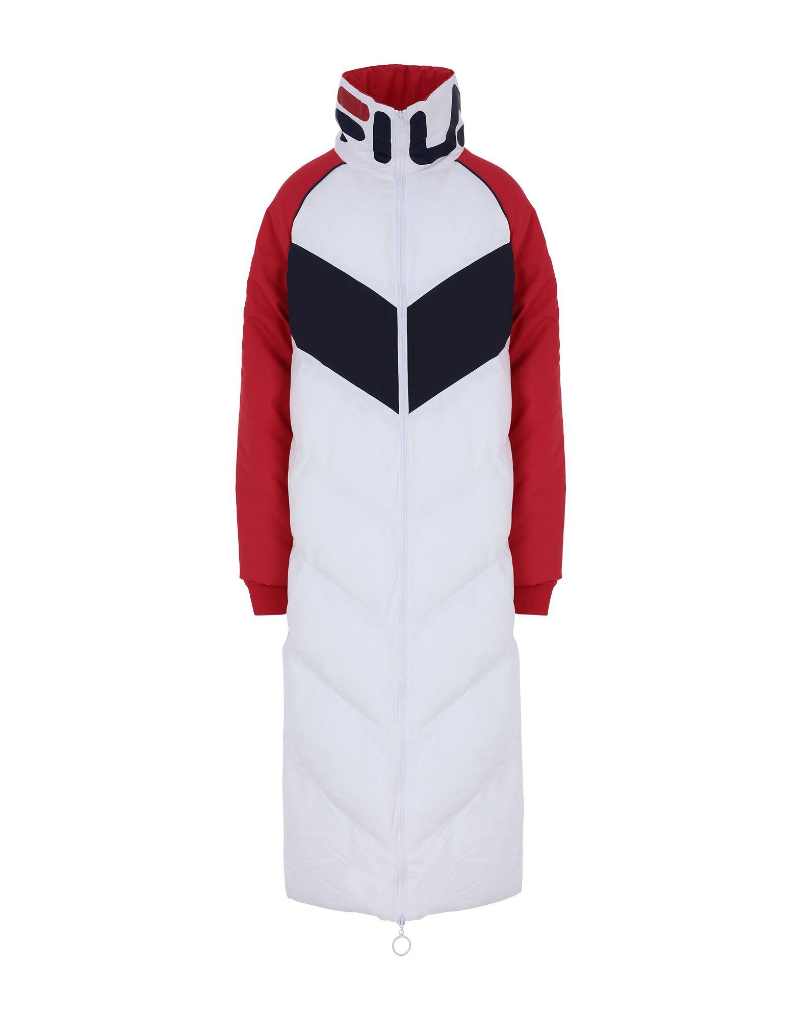 YOOX.COM(ユークス)《セール開催中》FILA HERITAGE レディース 合成繊維中綿アウター ホワイト S ポリエステル 100% KEON longline puffer jacket
