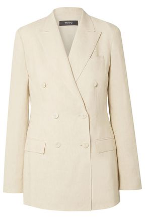 THEORY Double-breasted linen blazer