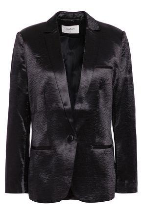 BA&SH Carina crinkled-satin blazer