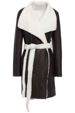 YVES SALOMON Reversible belted shearling jacket