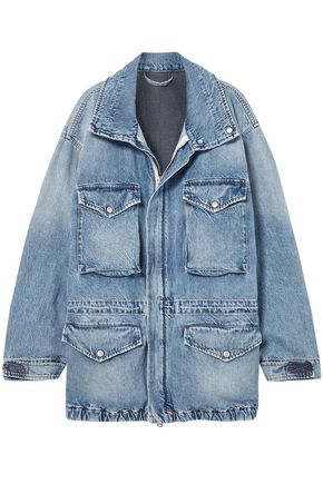 BEN TAVERNITI™ UNRAVEL PROJECT Oversized cutout denim jacket
