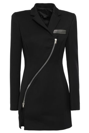 ALEXANDER WANG Zip-detailed cady blazer