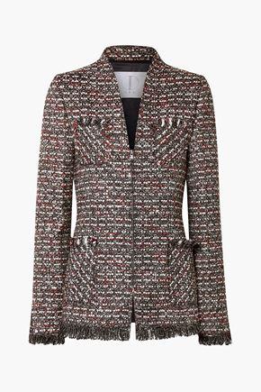TRE by NATALIE RATABESI Miller embellished metallic tweed blazer