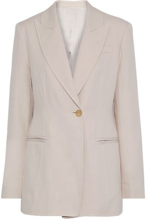 JOSEPH Hampson ramie and cotton-blend twill blazer