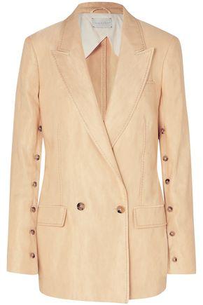 ARJÉ Double-breasted linen-blend blazer