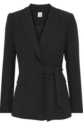 IRIS & INK Madison belted crepe blazer