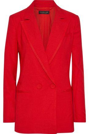 RACHEL ZOE Giorgia double-breasted woven blazer