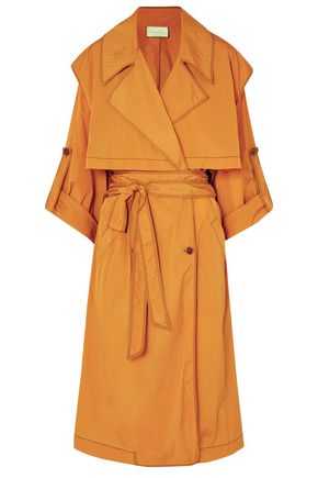 ARJÉ Dione hammered-sateen trench coat