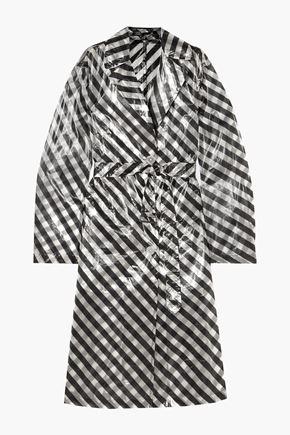 DRIES VAN NOTEN Striped organza trench coat