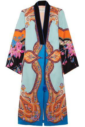 ETRO Printed satin coat