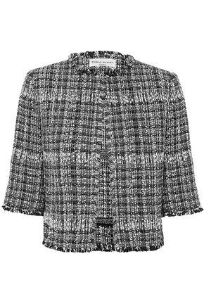 SONIA RYKIEL Cropped checked bouclé jacket
