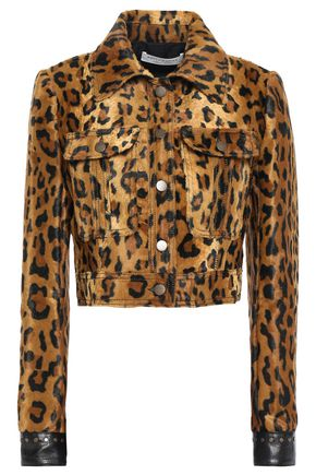 PHILOSOPHY di LORENZO SERAFINI Studded leopard-print faux fur jacket