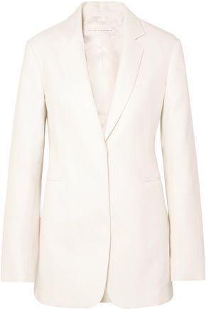 VICTORIA BECKHAM Bailey double-breasted ramie and cotton-blend twill blazer