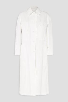 DRIES VAN NOTEN Oversized cotton-gabardine coat
