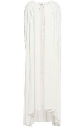 ALBERTA FERRETTI Pleated stretch-crepe cape