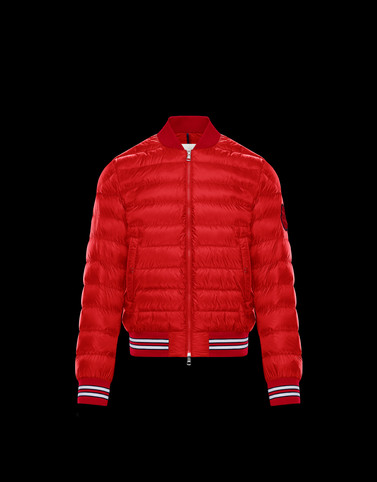 ROBERT Red Down Jackets Man