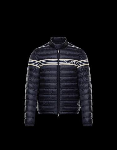 RENALD Dark blue Down Jackets Man
