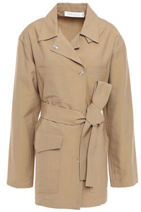 VICTORIA BECKHAM Belted cotton-blend canvas jacket