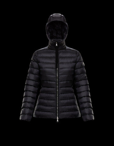 AMETHYSTE Black Short Down Jackets Woman