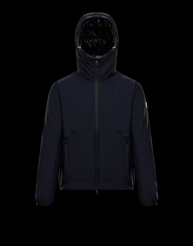 HUBERT Dark blue Windbreakers Man