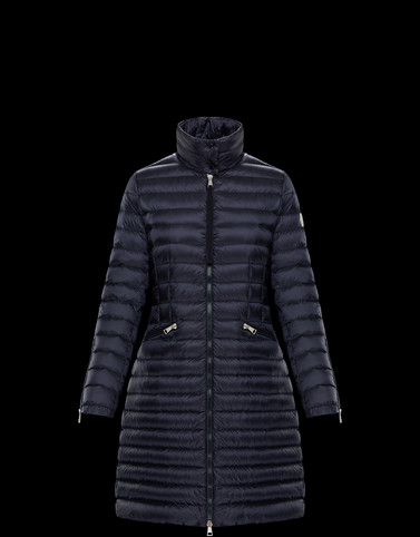 SABLE Dark blue Short Down Jackets Woman