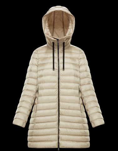 RUBIS Beige Short Down Jackets Woman
