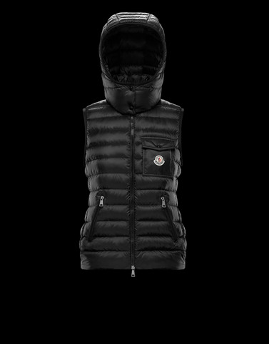GLYCINE Black Category Waistcoats Woman