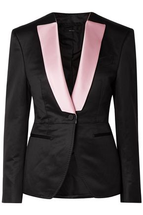 TOM FORD Silk satin-trimmed wool-faille blazer
