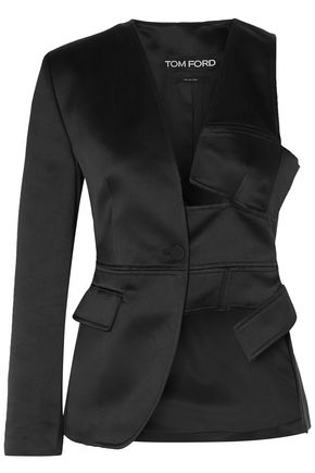 TOM FORD Cutout silk-satin blazer