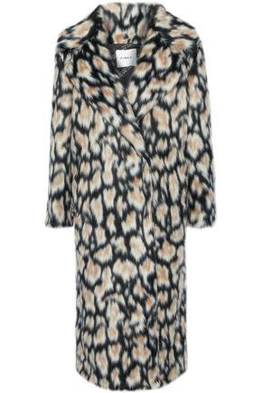 AINEA Leopard-print faux fur coat