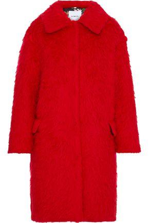 AINEA Brushed wool-blend coat