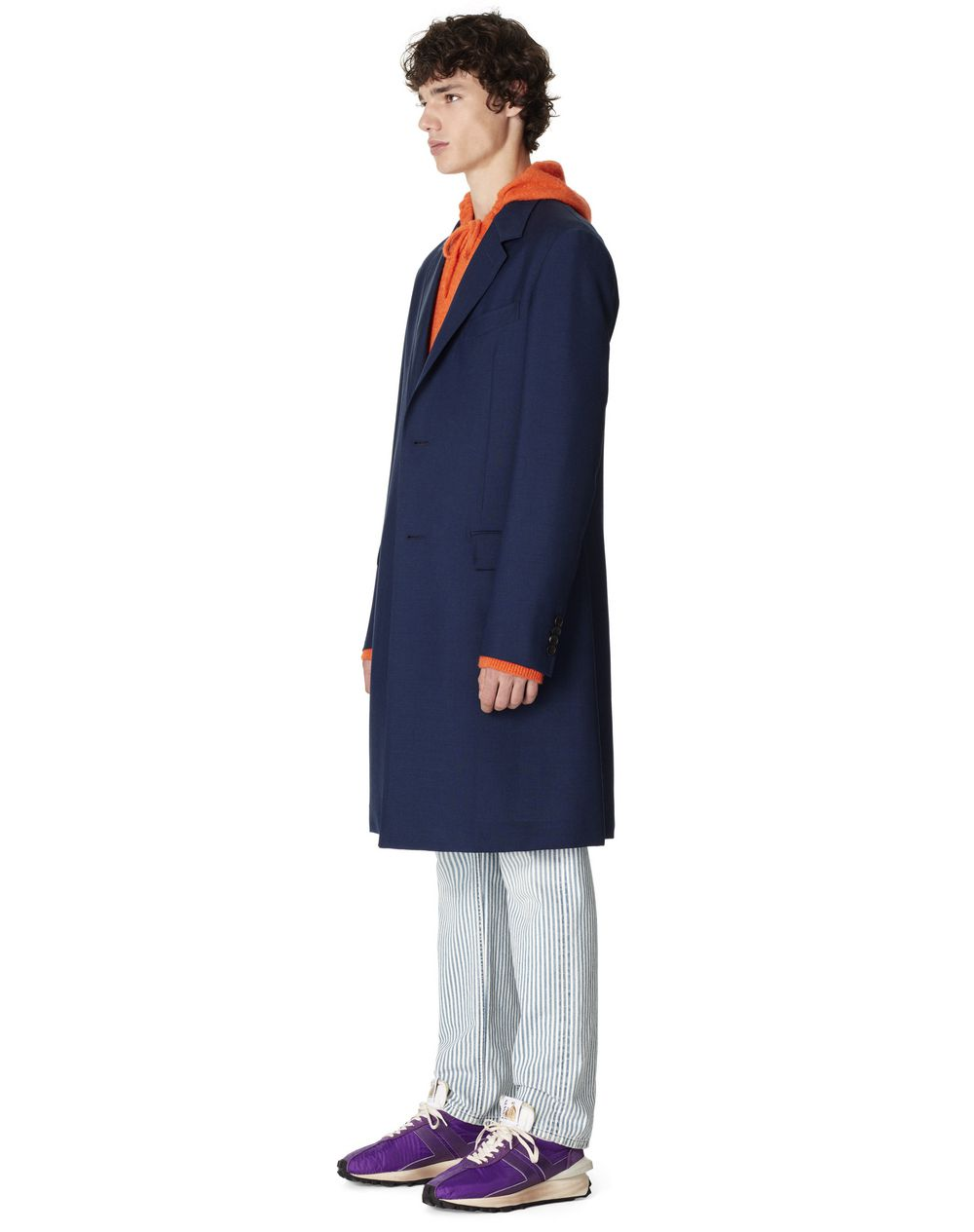 LIGHT WOOL AND MOHAIR COAT - Lanvin