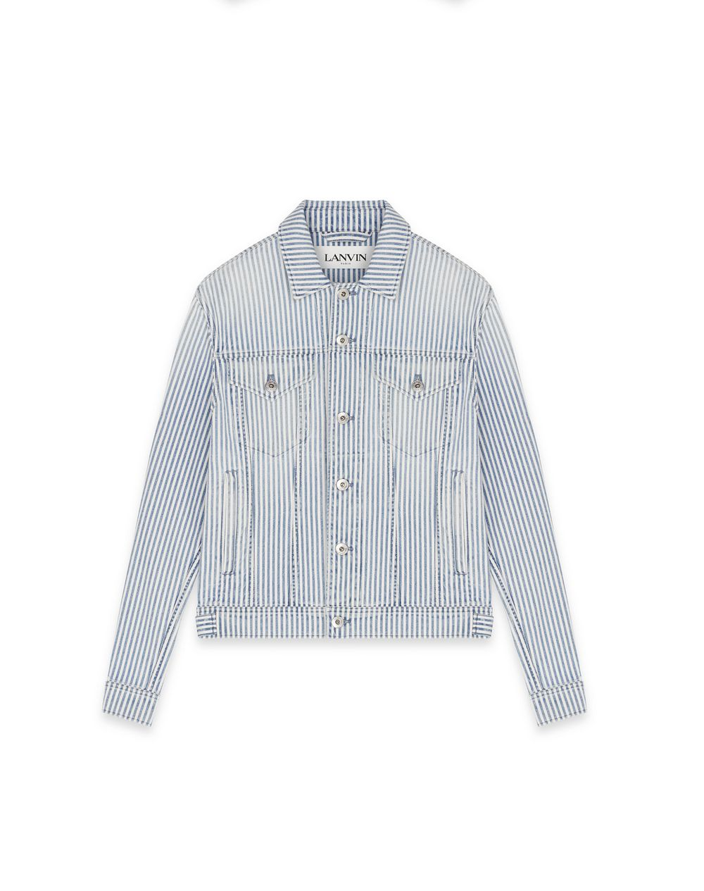 STRIPED DENIM JACKET - Lanvin